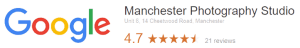 GOOGLE REVIEWS logo manchester photography studio